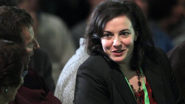 Emmanuelle Cosse au congrès EELV à Caen, le 30 novembre 2013 [Charly Triballeau / AFP]