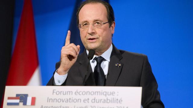 François Hollande le 20 janvier 2014 à La Haye [Alain Jocard / AFP]