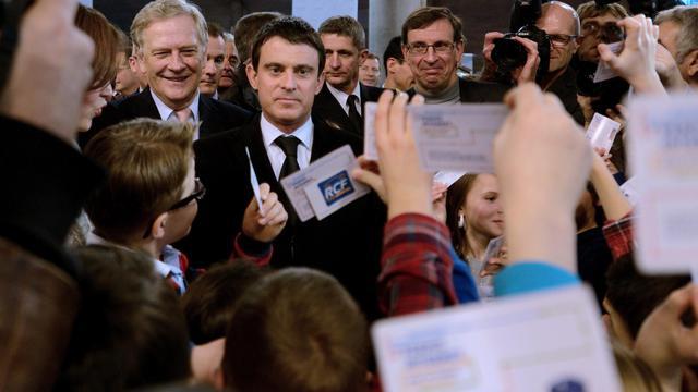 Le ministre de l'Intérieur Manuel Valls au Forum international de la cybersécurité à Lille le 21 janvier 2014 [DENIS CHARLET / AFP]