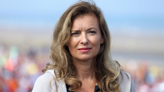 Valérie Trierweiler à Cabourg le 28 août 2013 [Charly Triballeau / AFP/Archives]