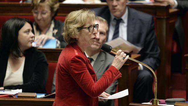 La ministre de l'Enseignement supérieur Geneviève Fioraso à l'Assemblée nationale le 18 février 2014 [Eric Feferberg / AFP/Archives]