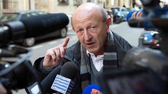 Jean-Luc Bennahmias s'exprime devant des journalistes le 24 février 2014 à Marseille [Bertrand Langlois / AFP/Archives]