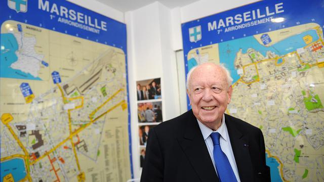 Le maire sortant UMP de Marseille Jean-Claude Gaudin le 30 mars 2014 [Boris Horvat / AFP]