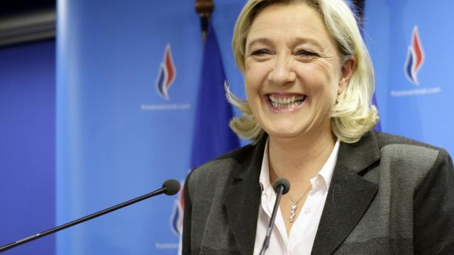 La présidente du Front National, Marine Le Pen, le 30 mars 2013 à Nanterre près de Paris  [Kenzo Tribouillard / AFP/Archives]