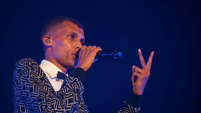 Stromae en concert lors de l'ouverture du Printemps de Bourges le 22 avril 2014 [Guillaume Souvant / AFP]