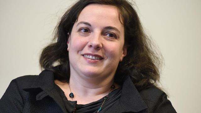 La secrétaire nationale d'EELV, Emmanuelle Cosse, lors d'une conférence de presse à Montpellier le 6 mai 2014 [Pascal Guyot / AFP/Archives]