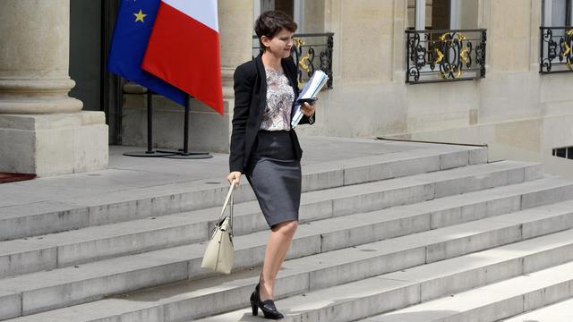 La ministre de la Jeunesse et des Sports Najat Vallaud-Belkacem le 7 mai 2014 à Paris [Alain Jocard / AFP]