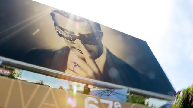 L'affiche officielle du 67e festival de cinéma de Cannes qui débute le 14 mai 2014 [Loïc Venance / AFP]