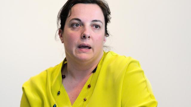 Emmanuelle Cosse, secrétaire nationale d'Europe Ecologie-Les Verts (EELV), le 16 mai 2014 à Lille [Philippe Huguen / AFP/Archives]