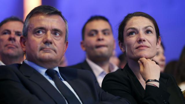 La sénatrice UDI Chantal Jouanno (d), en mai 2014 à La Plaine-Saint-Denis, près de Paris [Thomas Samson / AFP/Archives]