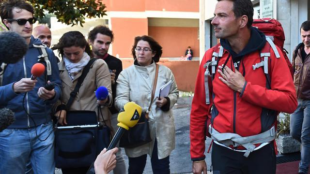 Jérôme Kerviel le 18 mai 2014 à Vintimille, en Italie [Anne-Christine Poujoulat / AFP/Archives]