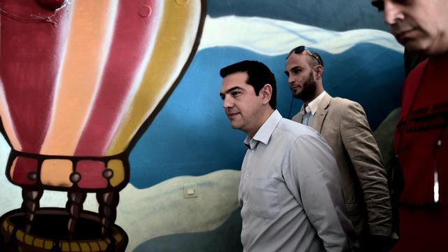 Le dirigeant de Syriza Alexis Tsipras à Athènes le 25 mai 2014 [Aris Messinis / AFP]