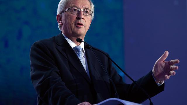 Jean-Claude Juncker du Parti populaire européen (PPE), le 25 mai 2014 à Bruxelles [John Thys / AFP]
