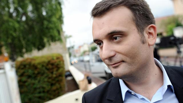 Florian Philippot, vice-président du Front national, le 26 mai 2014 à Nanterre [Stéphane de Sakutin / AFP/Archives]