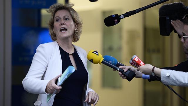 Nadine Morano le 10 juin 2014 au siège de l'UMP à Paris [Eric Feferberg / AFP]