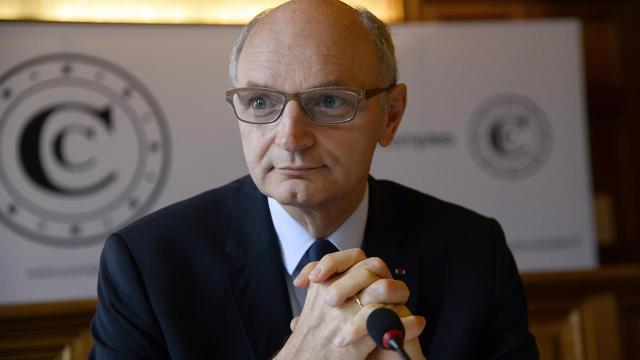 Le premier président de la Cour des comptes, Didier Migaud, donne une conférence de presse, le 17 juin 2014 à Paris [Bertrand Guay  / AFP]