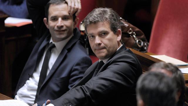Benoît Hamon et Arnaud Montebourg le 17 juin 2014 à l'Assemblée nationale à Paris [Dominique Faget / AFP/Archives]