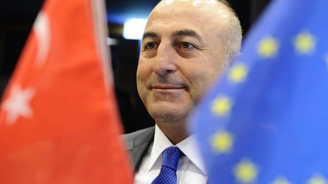 Le nouveau ministre des Affaires étrangères turc Mevlut Cavusoglu, photographié à Luxembourg le 23 juin 2014 [John Thys / AFP/Archives]