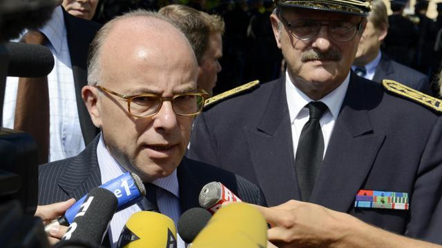 Le ministre de l'Intérieur Bernard Cazeneuve le 27 juin 2014 à  Saint-Cyr au Mont d'Or [Jean-Philippe Ksiazek / AFP]