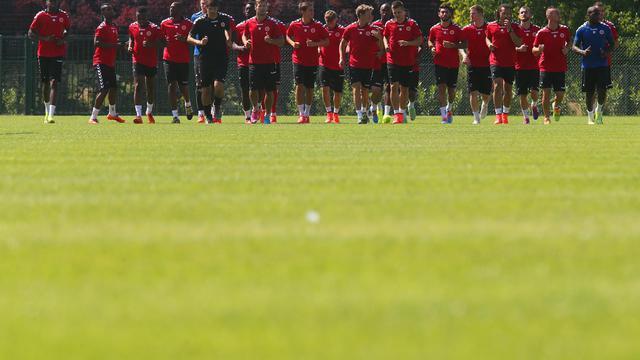 Des joueurs du Stade de Reims dans leur centre d'entraînement, le 2 juillet 2014. [François Nascimbeni / AFP]