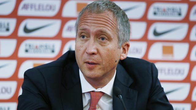Le vice-président de l'AS Monaco Vadim Vasilyev lors d'une conférence de presse, le 3 juillet 2014 à Monaco. [Valréy Hache / AFP/Archives]