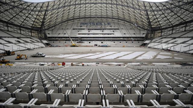 Le stade Vélodrome de Marseille, lors des travaux, le 4 juillet 2014  [Boris Horvat / AFP/Archives]