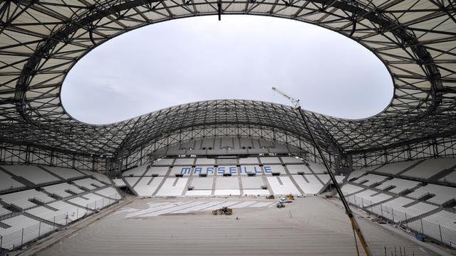 Le Stade Vélodrome en pleine rénovation le 4 juillet 2014 à Marseille  [ / AFP/Archives]