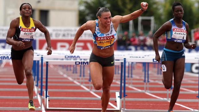 La championne de France du 100 m haies Cindy Billaud, le 12 juillet 2014 à Reims  [François Nascimbeni / AFP/Archives]