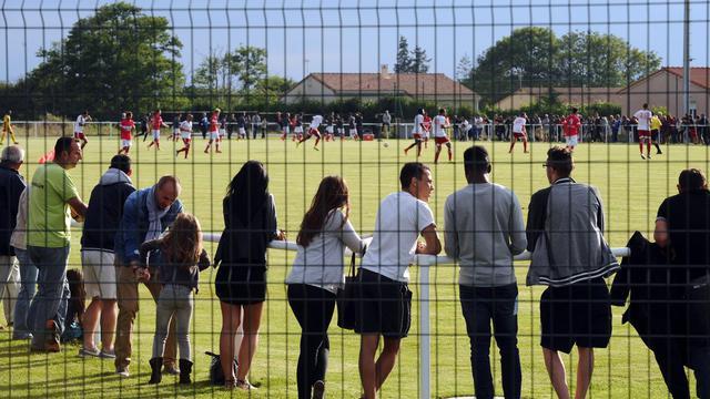 Les supporteurs du Luzenac Ariège Pyrénées lors d'un match amical contre Toulouse, le 12 juillet 2014, à Mazere dans le sud de la France. [Rémy Gabalda / AFP]