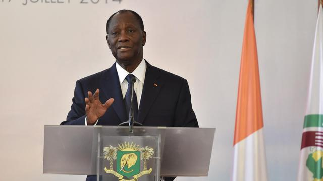 Le président ivoirien Alassane Ouattara lors d'une conférence de presse le 17 juillet 2014 [Issouf Sanogo / AFP/Archives]