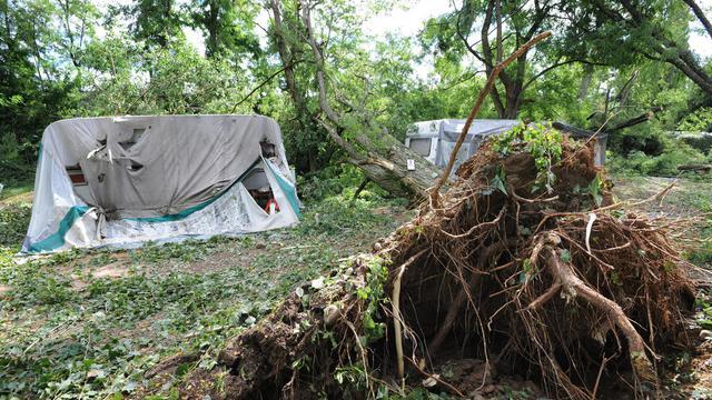 A Saint-Just d'Ardeche, dans le sud de la France, le 21 juillet 2014, après une violente tempête [Sylvain Thomas / AFP/Archives]