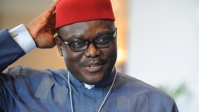 Le ministre nigérian de la Santé Onyebuchi Chukwu, le 8 mai 2014 à Abuja [Pius Utomi Ekpei / AFP/Archives]