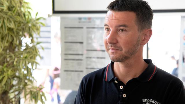 Le leader du Nouveau parti anticapitaliste Olivier Besancenot le 26 juillet 2014 à Paris [Pierre Andrieu / AFP/Archives]