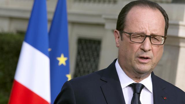 Le président François Hollande prononce un discours à Paris, le 26 juillet 2014 [Philippe Wojazer / Pool/AFP/Archives]