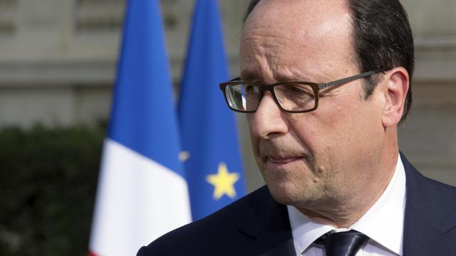 Le président François Hollande à Paris le 26 juillet 2014 [Philippe Wojazer / Pool/AFP/Archives]