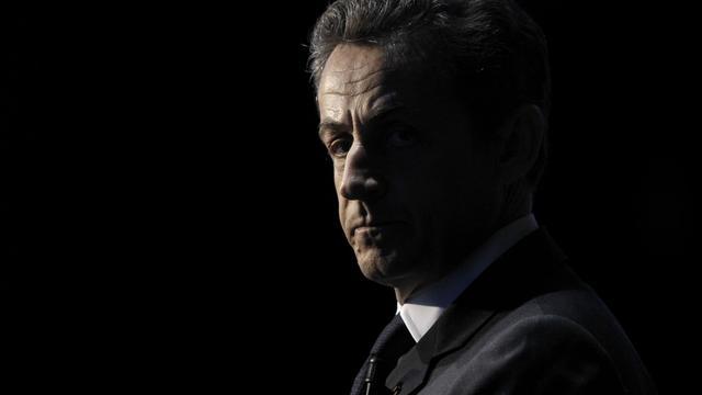 Nicolas Sarkozy, pendant la campagne présidentielle, le 10 avril 2012, à Paris [Kenzo Tribouillard / AFP/Archives]