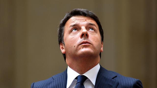 Le Premier ministre italien Matteo Renzi le 29 juillet 2014 au palais Chigi à Rome [Alberto Pizzoli / AFP/Archives]