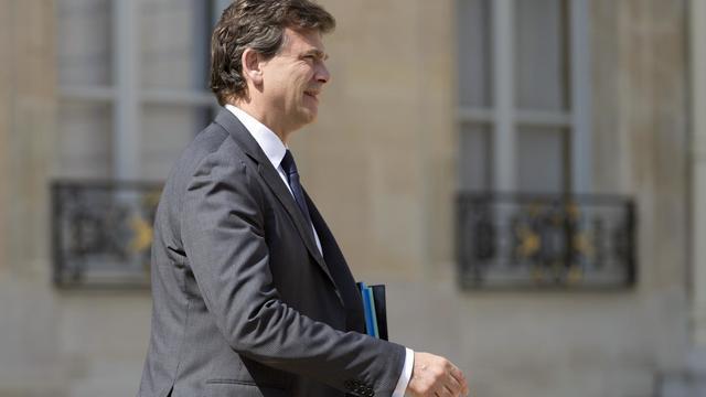 Arnaud Montebourg à la sortie de l'Elysée le 30 juillet 2014 à Paris [Kenzo Tribouillard / AFP]