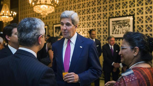Le secrétaire d'État américain John Kerry, lors d'une réception à New Delhi, le 30 juillet 2014 [Lucas Jackson / POOL/AFP]