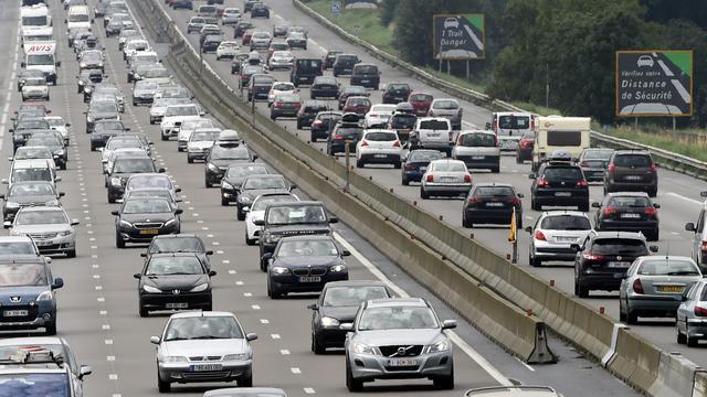 Circulation dense le 2 août 2014 sur l'A7 près de Vienne sur l'A7, le 2 août 2014 [Philippe Desmazes / AFP/Archives]