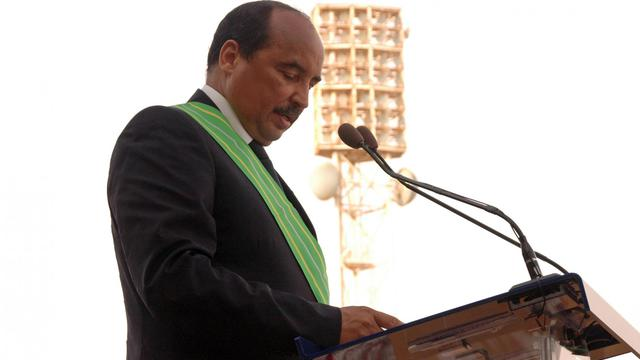 Le président mauritanien Mohamed Ould Abdel Aziz lors de son investiture à Nouakchott le 2 août 2014 [Ahmed Ould Mohamed Ould Elhadj / AFP]