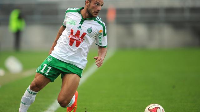 Le Stéphanois Yohan Mollo lors d'un match amical contre Lens, le 2 août 2014 à Amiens [François Lo Presti / AFP]