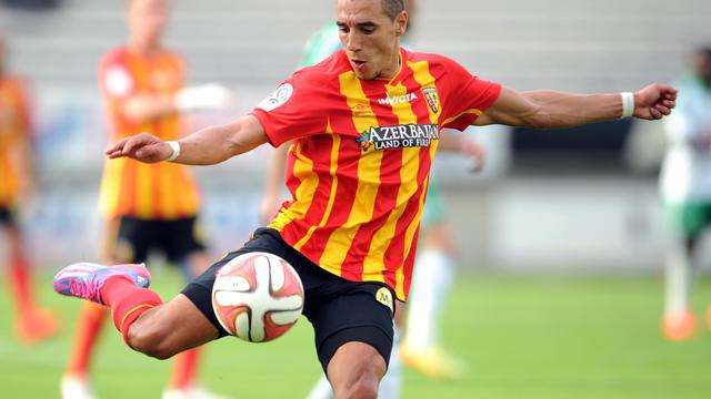 Le Lensois El Jabeyaoui lors du match amical contre Saint-Etienne, le 2 août 2014, à Amiens [François Lo Presti / AFP/Archives]