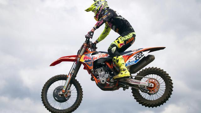 L'Italien Antonio Cairoli au guidon de sa KTM au GP de Belgique de motocross MXGP le 3 août 2013 à Lomme [ / BELGA/AFP]