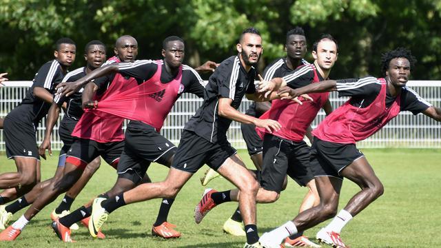 Les joueurs de Luzenac à l'entraînement, le 8 août 2014 à Toulouse [Pascal Pavani / AFP]