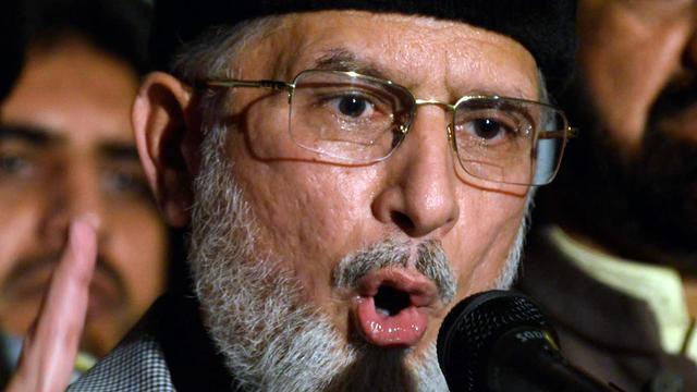 Le chef religieux Tahir-ul-Qadri à Lahore le 13 aout 2014 [Arif Ali / AFP]