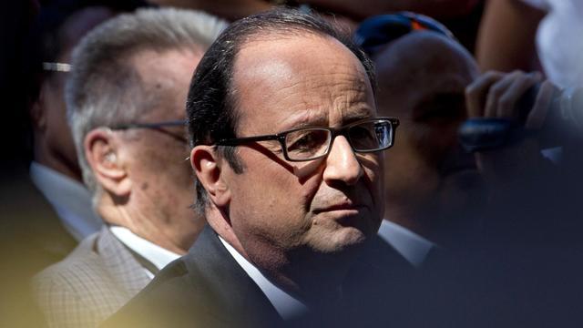 Le président français François Hollande le 15 août 2014 à Toulon [Alain Jocard / AFP/Archives]