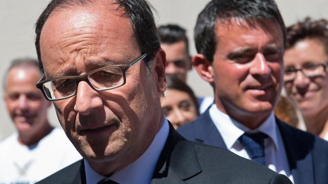 François Hollande et Manuel Valls le 15 août 2014 au Fort de Bregançon [Bertrand Langlois / Pool/AFP/Archives]