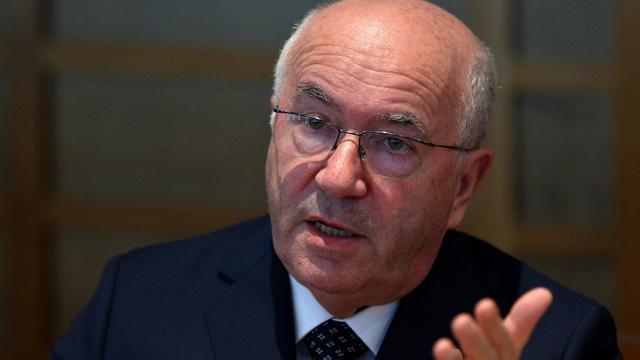 Le président de la Fédération italienne de football Carlo Tavecchio, le 18 août 2014 à Rome [Alberto Pizzoli / AFP]
