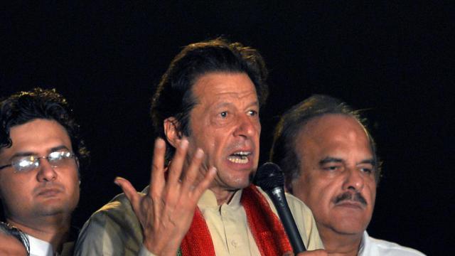 Imran Khan face à ses partisans le 18 août 2014 à Islamabad  [Aamir Qureshi / AFP]
